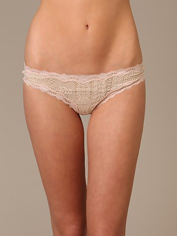 Solid Lace Thong