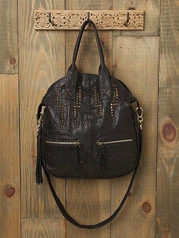 Aztec Studded Leather Bag
