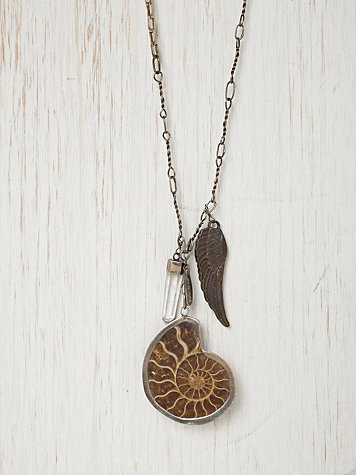 Ammonite Cluster Necklace