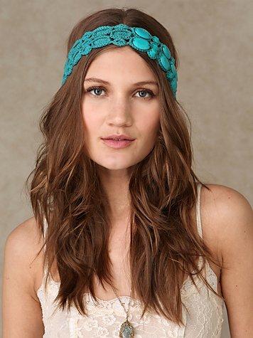 Crochet Stone Headband