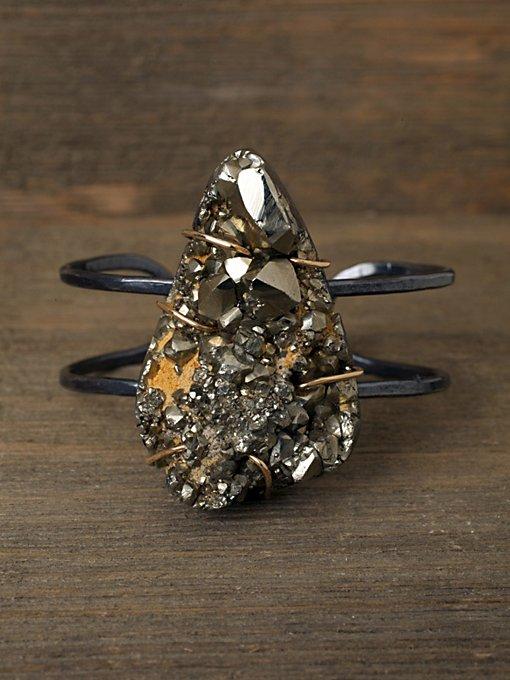 One of a Kind Pyrite Cuff
