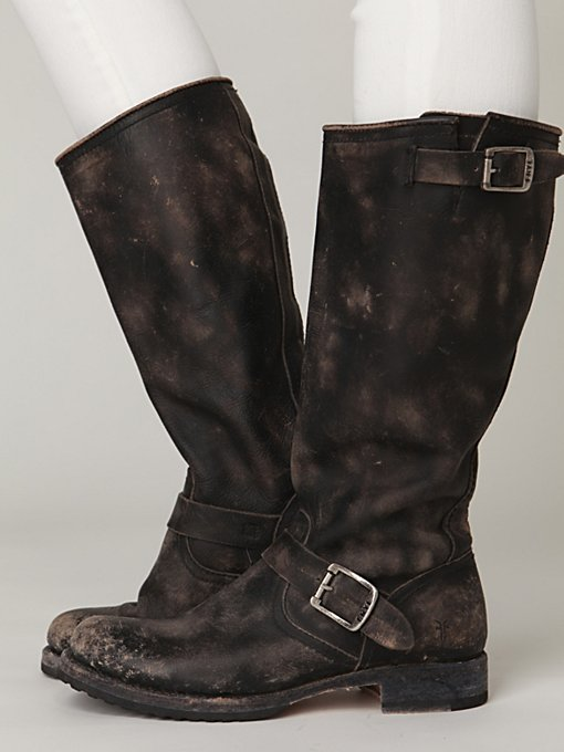 Stone Wash Slouch Boot