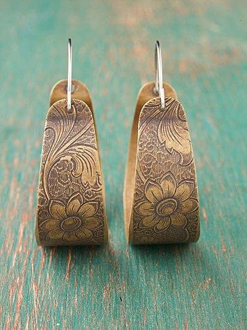 Petals Engraved Hoops