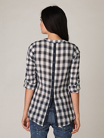 Snap Out Of It Plaid Tunic
