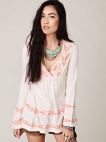 Scrunched Floral Tunic