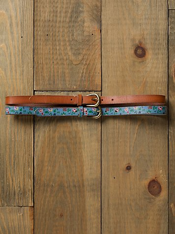 Double Ditsy Waist Belt