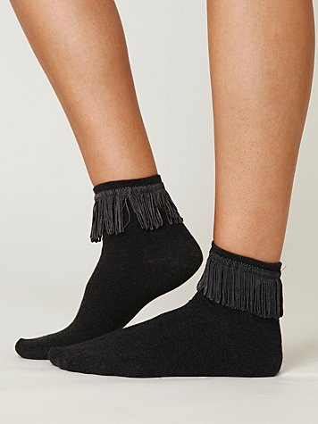 Fringe Ankle Sock