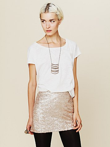Fever Sequin Bodycon Skirt