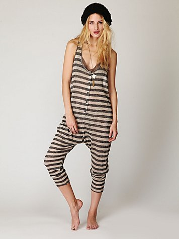 Linen Striped Romper