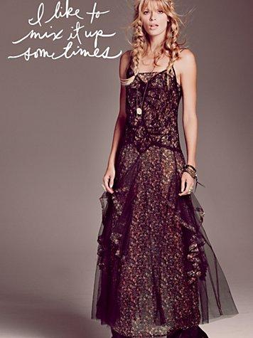FP ONE Opera Mesh Maxi Dress
