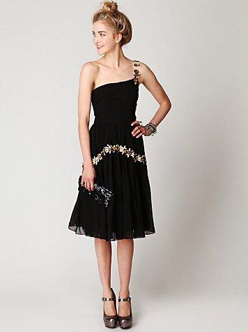 Kristals One Shoulder Party Dress