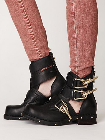 Past Due Cutout Ankle Boot