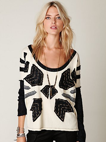 Nordic Compass Long Sleeve Top