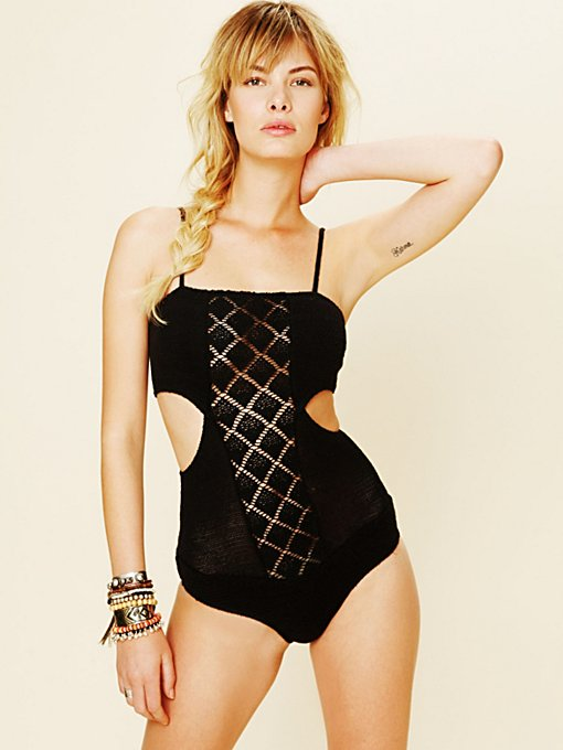 Diamond Crochet Bodysuit