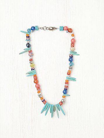 Alina Turquoise and Bead Necklace