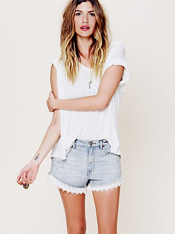 Lacey Denim Cutoff Shorts