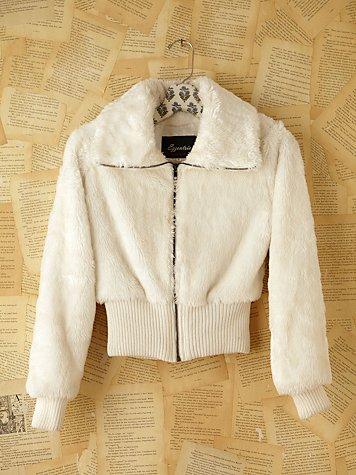 Vintage Fuzzy Zip Jacket