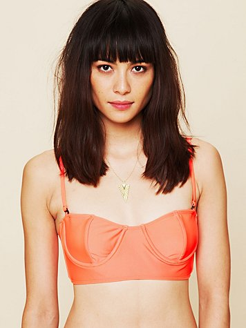 Solid Underwire Crop Top