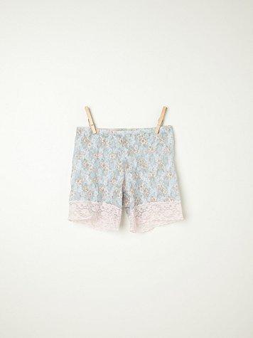Printed Lace Bike Shorts