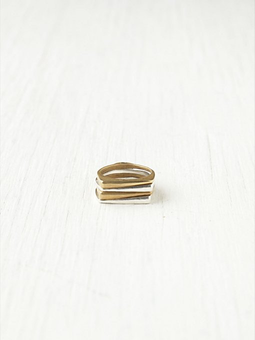 Stacked Glade Ring