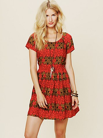 Printed House Dress