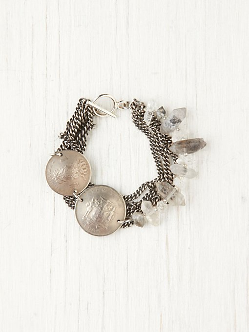 Coin & Crystal Bracelet