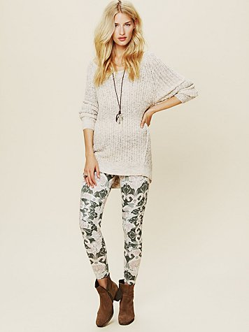 Printed Pusher Pant