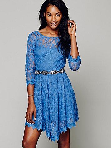 Floral Mesh Lace Dress