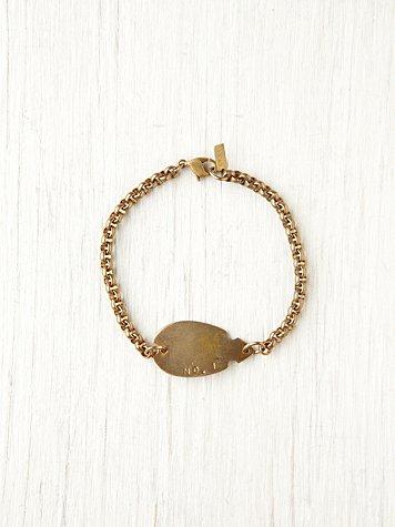 Thin Chain Arrowhead ID Bracelet