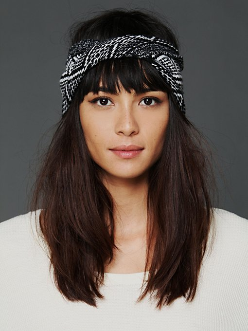 Diamond Jacquard Twist Headwrap