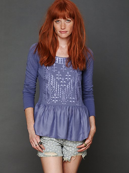 Knit Top with Embroidery