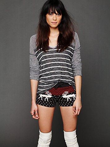 Fleece Printed Shorts