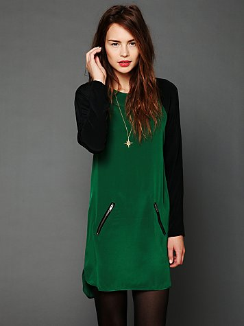 Color Block Raglan Dress