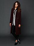 Bordeaux Maxi Wool Coat