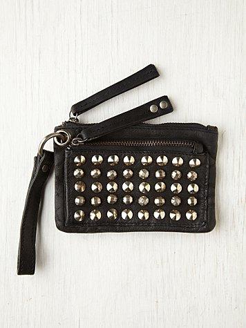 Studded Zip Wallet