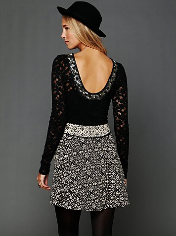 Lace Fancy Low Back Top