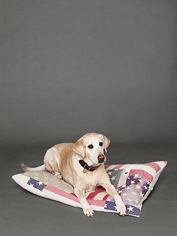 Vintage Flag Dog Bed