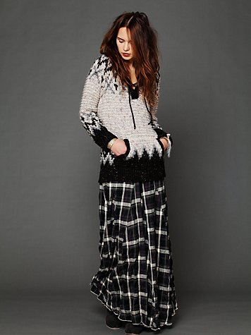 Plaid Flannel Maxi Skirt