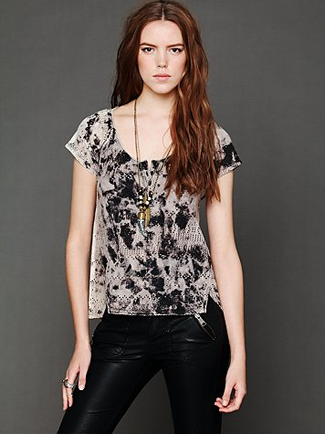 Punched Eyelet Tee