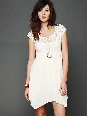 Brushed Lace and Gauze Top