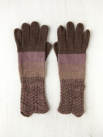 Knit Glove With Stripes