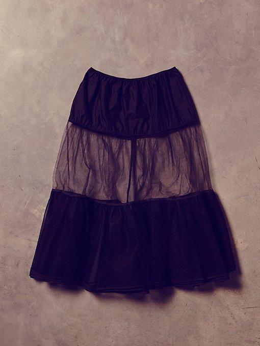 Vintage Black Sheer Tulle Skirt