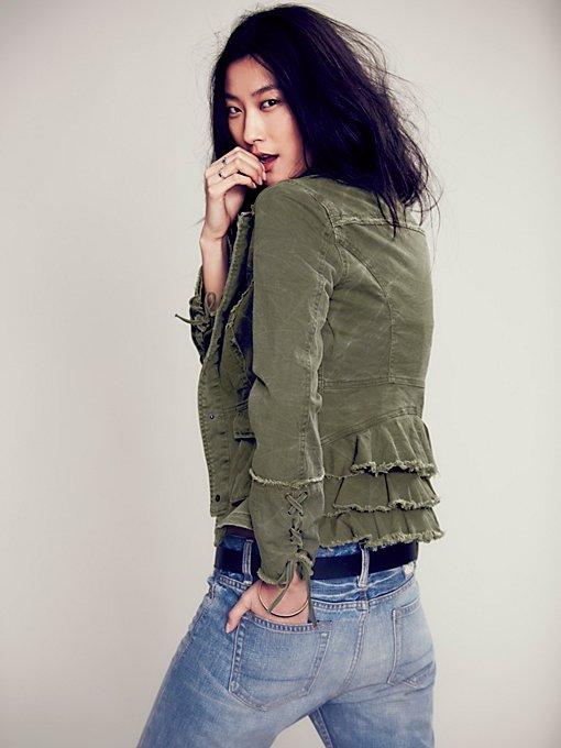 Military Ruffle Twill Jacket
