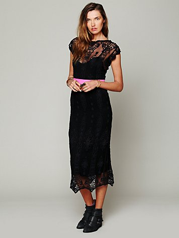 Lilly Vintage Embroidered Dress