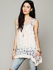 Border Print Sleeveless Tunic