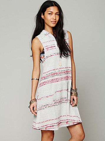 Printed Hooded Tank Dress