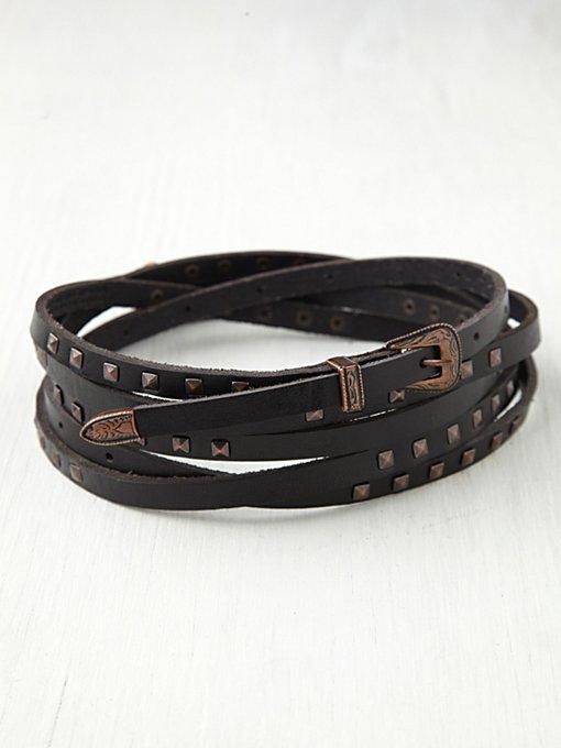 Studded Triple Wrap Belt
