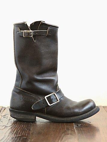 Vintage Leather Engineer Boots