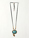 Stone And Charm Necklace