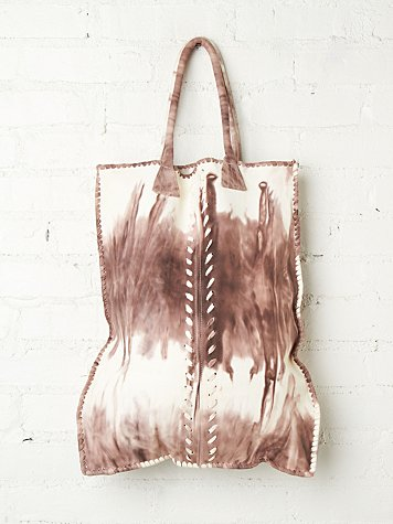 Stormy Leather Tote
